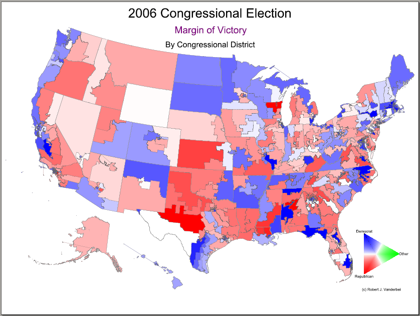 Us Election Map By District Us Map Of The United States - Us map by congresina lolelection results