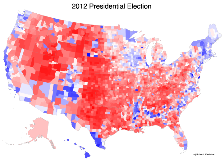 The Trouble With The Purple Election Map Matter Medium - Us-county-election-map