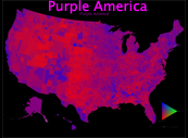 Purple America Map